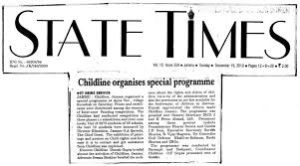 State Times Newspaper BIOGRAPHY